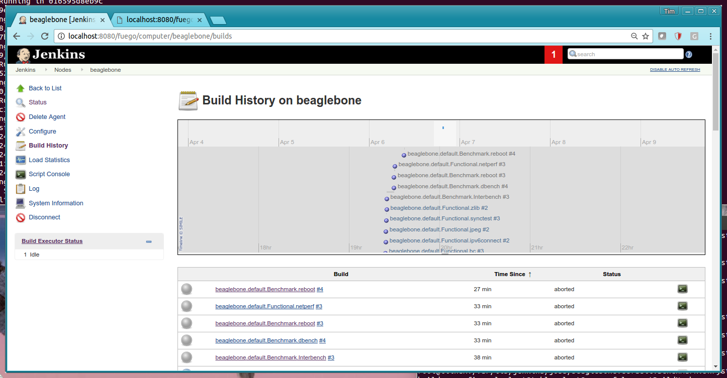 build history in jenkins